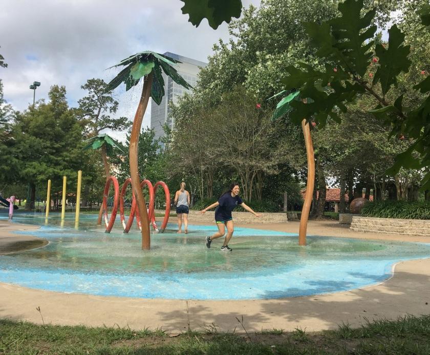 Enrico Cerrachio, Sam Houston Sculpture, LEAP Ambassadors, Center for Law Engagement And Politics, LEAP Center, Hermann Park, Tropical Splash Pad