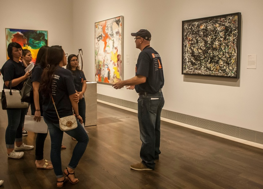 Museum of Fine Arts Houston, MFAH, SHSU, LEAP Center, Center for Law Engagement And Politics, LEAP Center, LEAP Ambassadors, Education, Jackson Pollock