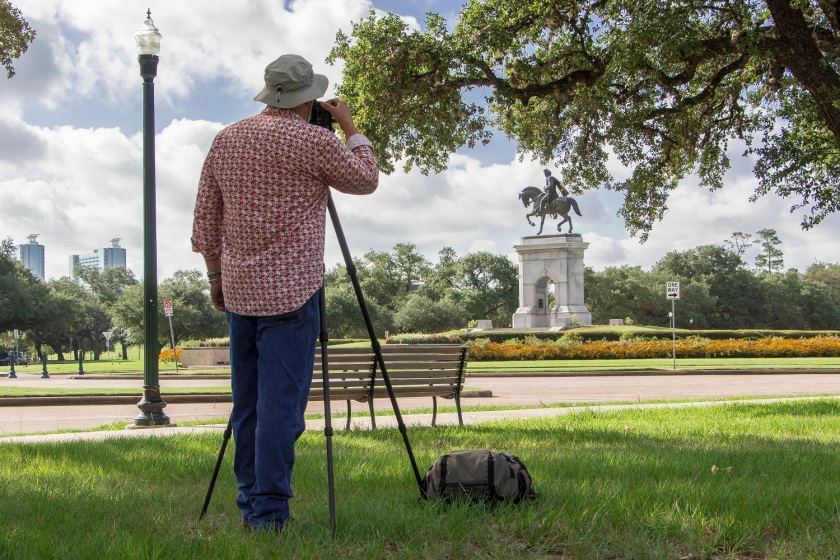 Sam Houston, Mark Burns, SHSU, Hermann Park, Houston TX, LEAP Ambassadors