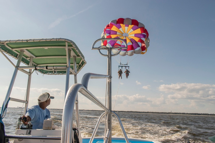 Parasailing, Biloxi MS, Southern Legislative Conference, LEAP Center, LEAP Ambassadors, SHSU