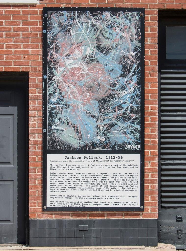 LEAP Ambassadors, LEAP Center, SHSU, Eastland TX, Jackson Pollock