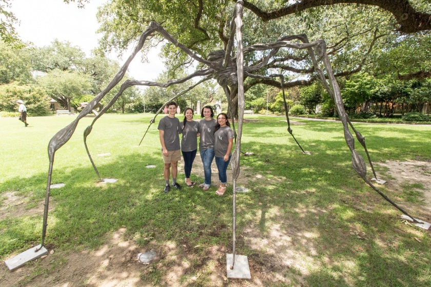 NOLA, New Orleans, Besthoff Sculpture Garden, LEAP Ambassadors, LEAP Center, SHSU, Spider, Louise Bourgeois