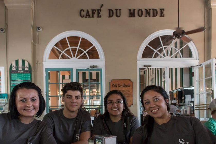 SHSU, LEAP Ambassadors, Cafe Du Monde, New Orleans, NOLA