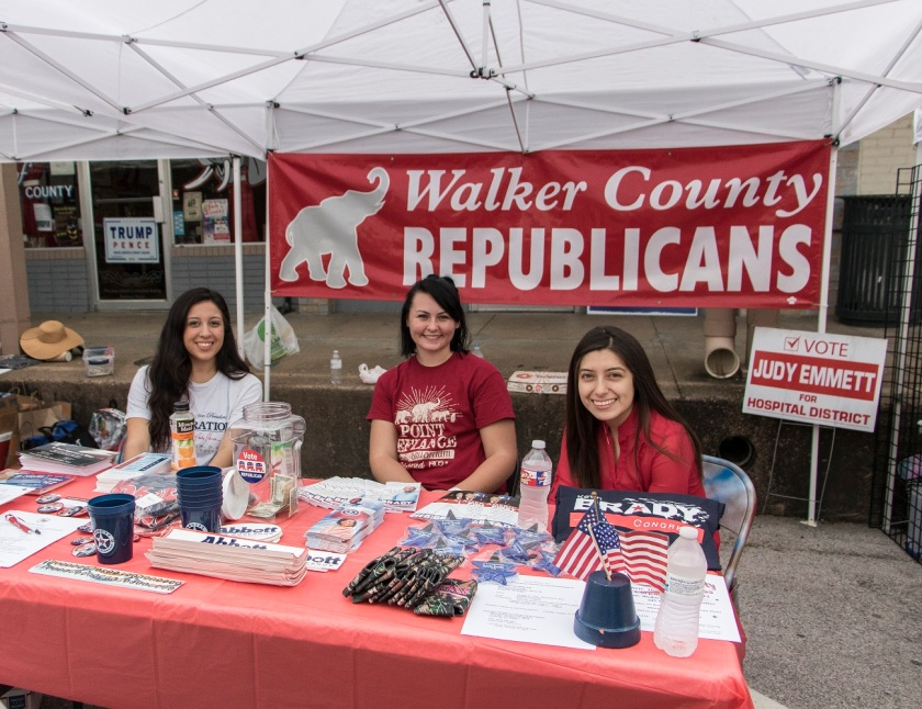 LEAP Center, LEAP Ambassadors, SHSU, Walker County Fair on the Square, Walker County Republican Party