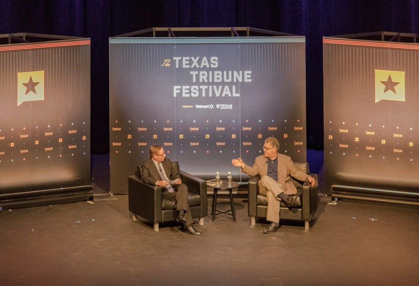 LEAP Ambassadors, LEAP Center, SHSU, Austin, Texas Tribune Festival, Al Franken, Evan Smith