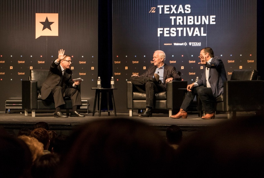 SHSU, LEAP Ambassadors, LEAP Center, Texas Tribune Festival, John Cornyn, Ted Cruz