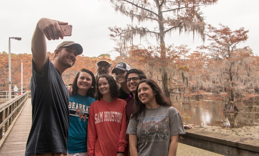 SHSU, LEAP Center, LEAP Ambassadors, Caddo Lake, Mark Burns, Caddo Lake State Park