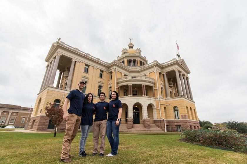 SHSU, LEAP Ambassadors, LEAP Center, Marshall TX, Harrison County Courthouse