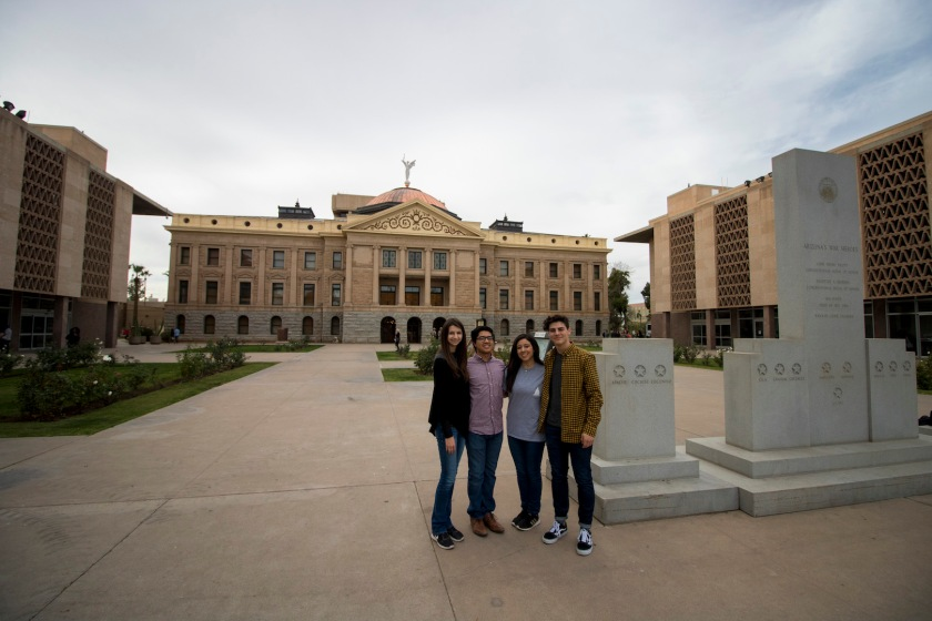 SHSU, LEAP Ambassadors, LEAP Center, Arizona State Capitol