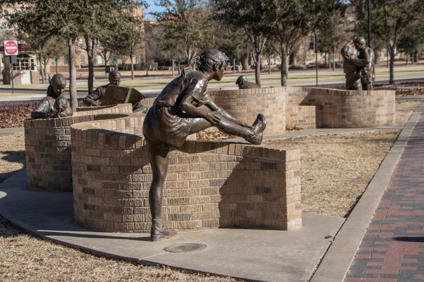 SHSU, LEAP Center, LEAP Ambassadors, Lubbock, Texas Tech University Public Art Collection, Glenna Goodacre