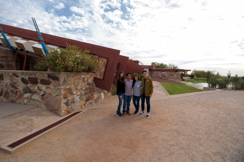 SHSU, LEAP Ambassadors, LEAP Center, Frank Lloyd Wright, Taliesin West, Scottsdale
