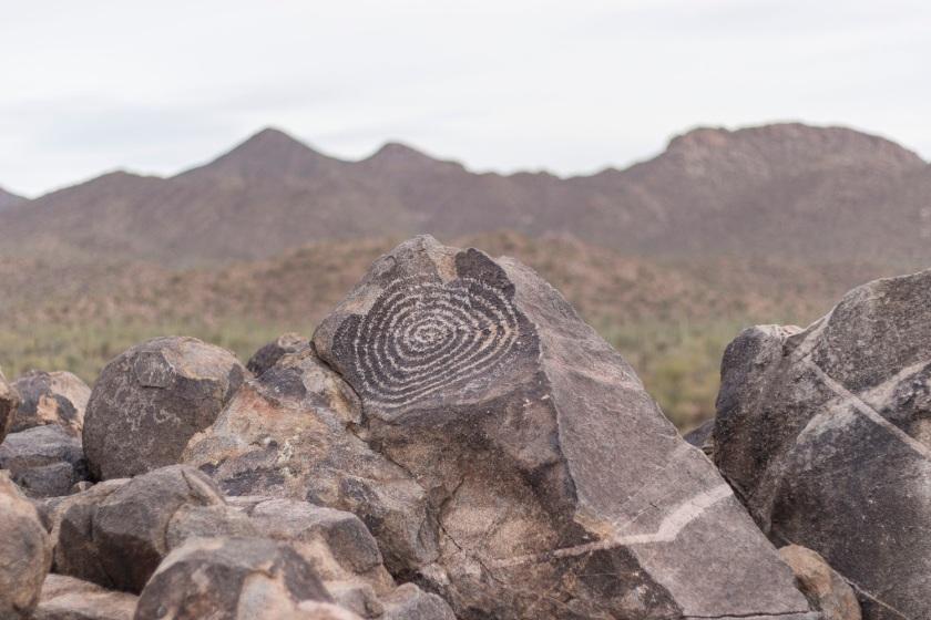 SHSU, LEAP Center, Saguaro National Park, Arizona, Tucson, Mark Burns, Indian Petroglyphs