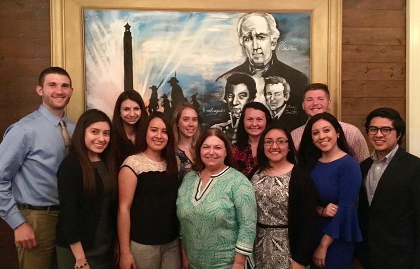 SHSU, LEAP Center, LEAP Ambassadors, Nancy Bocskor, 1836 Steakhouse
