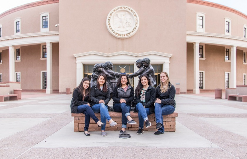 SHSU, LEAP Center, LEAP Ambassadors, Santa Fe NM,  New Mexico Capitol, Roundhouse, Glenna Goodacre