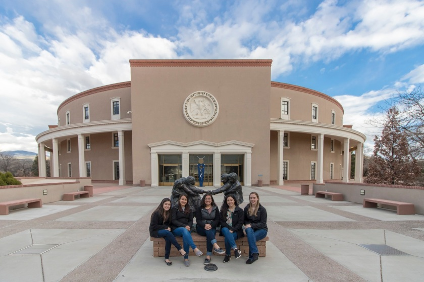 SHSU, LEAP Center, LEAP Ambassadors, Santa Fe NM,  New Mexico Capitol, Roundhouse