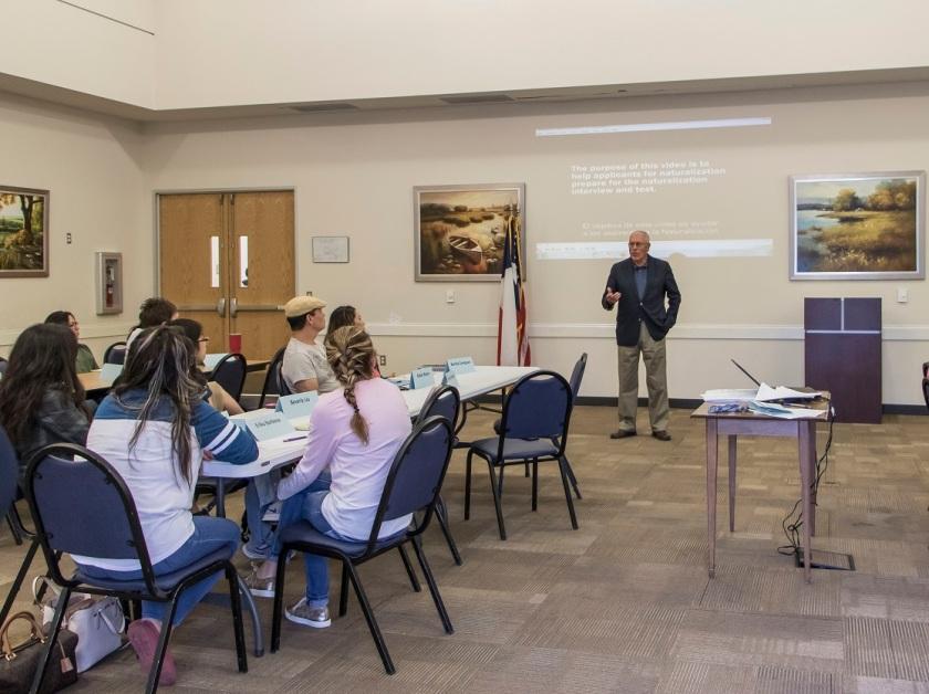 SHSU, Huntsville Public Library, LEAP Center, LEAP Ambassadors, Citizenship Preparatory Course, Councilmember Joe Rodriquez