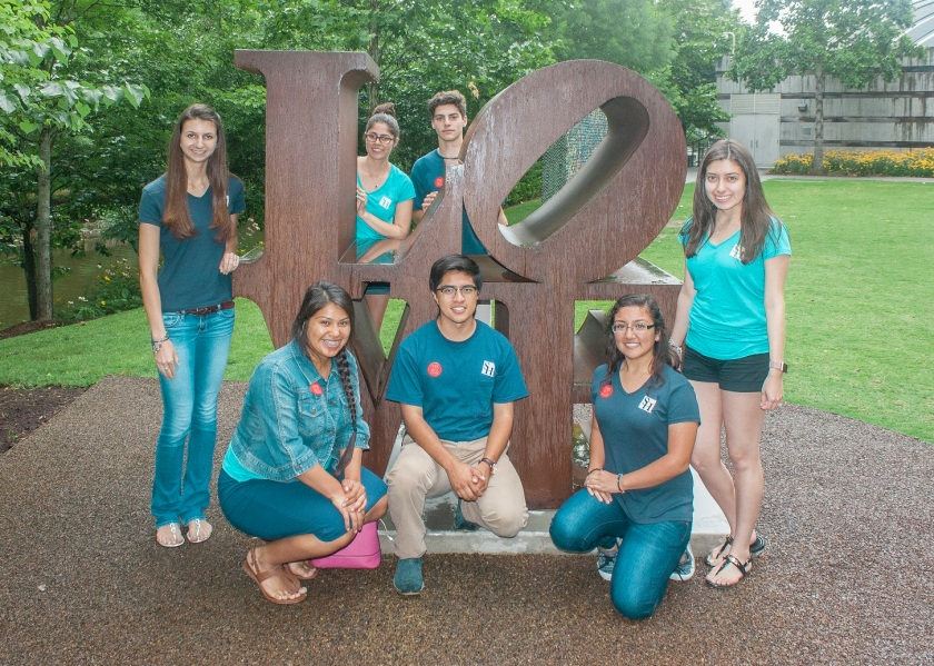 SHSU, LEAP Ambassadors, LEAP Center, Robert Indiana, LOVE, Crystal Bridges