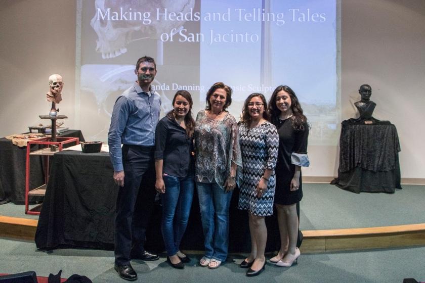 SHSU, LEAP Center, LEAP Ambassadors, Sam Houston Memorial Museum, Forensic Art, Amanda Danning, San Jacinto
