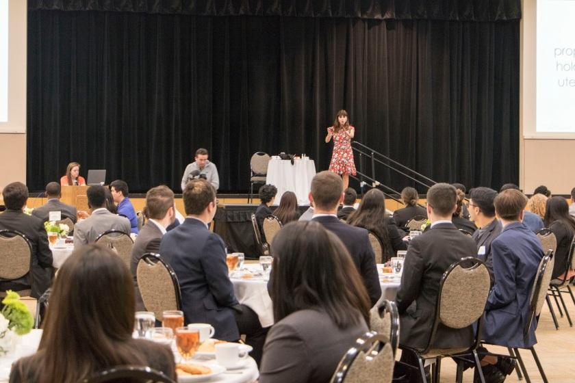 SHSU, LEAP Center, LEAP Ambassadors, Career Services Etiquette Dinner. Dianne Gottsman