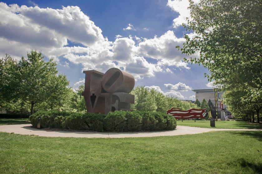 SHSU, LEAP Ambassadors, LEAP Center, Robert Indiana, LOVE, Indianapolis Art Museum