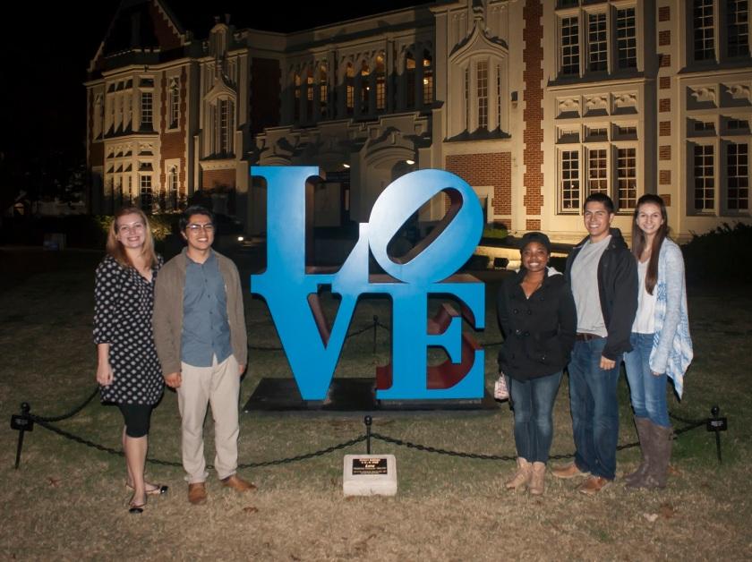 SHSU, LEAP Ambassadors, LEAP Center, Robert Indiana, LOVE, OU Norman