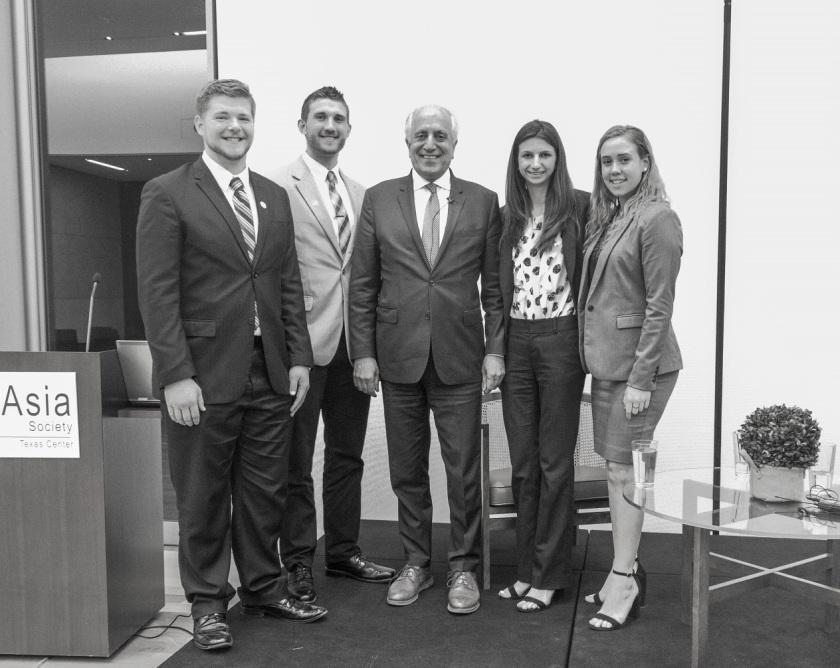 SHSU, LEAP Ambassadors, LEAP Center, Asia Society, Zalmay Khalilzad