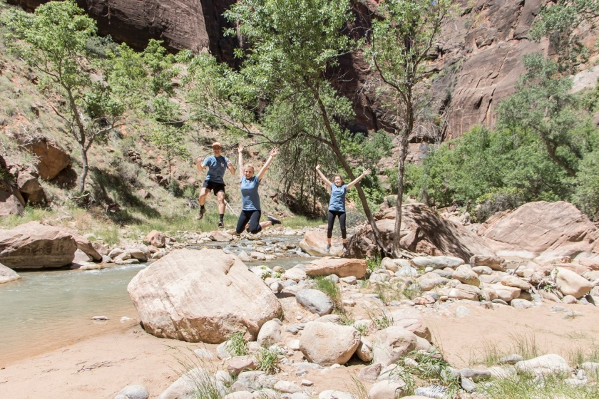SHSU, LEAP Center, Zion, The Narrows Trail, Maggie Denena, Ryan Brim, Anne Jamarik
