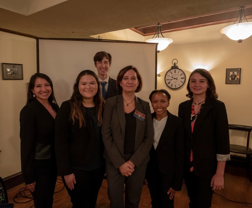 SHSU, Sam Houston State University, Center for Law Engagement And Politics, LEAP Center, LEAP Ambassadors, World Affairs Council, Ronan O'Malley, Julie Kavanagh, Black Labrador
