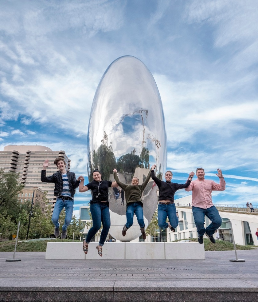 SHSU, LEAP Center, LEAP Ambassadors, Cloud Column, Anish Kapoor, Houston