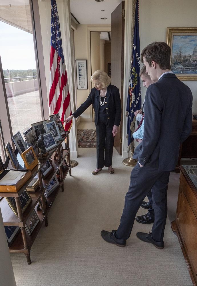 SHSU, LEAP Center, LEAP Ambassadors, President George H. W. Bush, Presidents Day,  Jean Becker