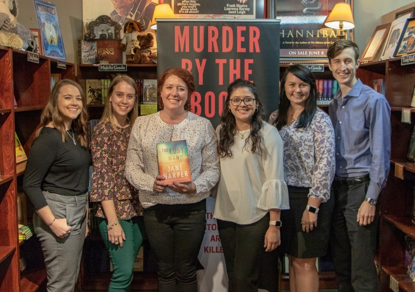 SHSU, LEAP Center, LEAP Ambassadors, Murder by the Book, Jane Harper, Amelia Passanza, The Lost Man