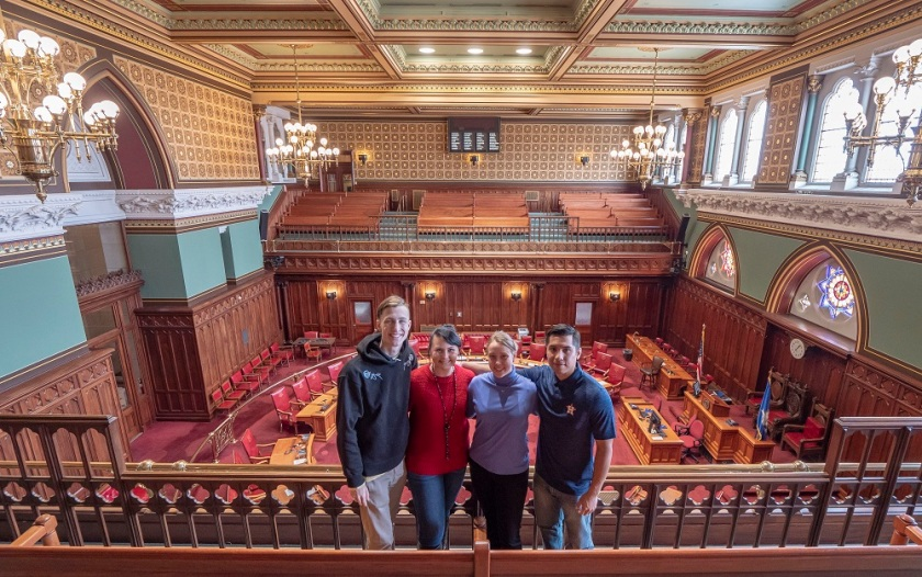 SHSU, LEAP Center, LEAP Ambassadors, New England Tour, Hartford CT, CT Capitol Building