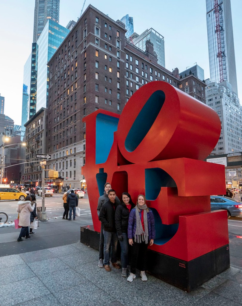 SHSU, LEAP Center, LEAP Ambassadors, New York City, Robert Indiana, LOVE