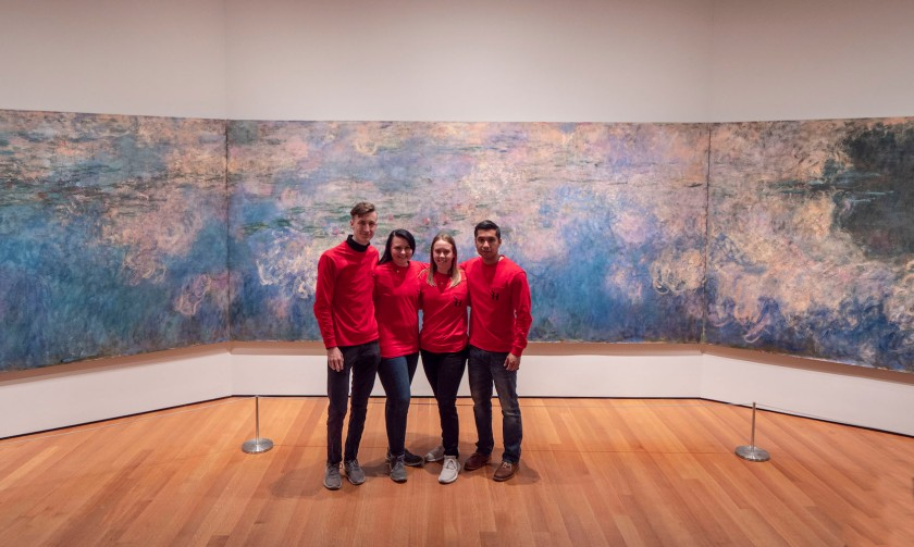 SHSU, LEAP Center, LEAP Ambassadors, New York City, Museum of Modern Art, Claude Monet, Water Lillies