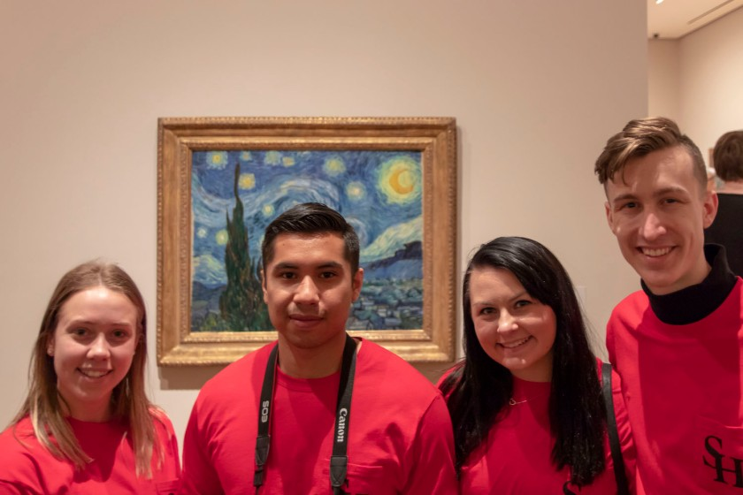 SHSU, LEAP Center, LEAP Ambassadors, New York City, Museum of Modern Art, Vincent Van Gogh