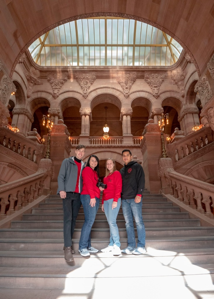 SHSU, LEAP Center, LEAP Ambassadors, Albany, New York State Capitol Building
