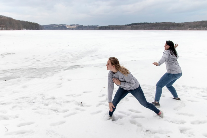 SHSU, LEAP Ambassadors, LEAP Center, Frozen Lake, Snowball Fight