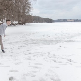 SHSU, LEAP Ambassadors, LEAP Center, Frozen Lake, Snowball Fight