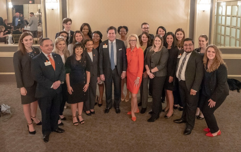 SHSU, LEAP Center, LEAP Ambassadors, Austin Texas, Sam Houston Birthday, Dana Hoyt, Chancellor Brian McCall, Vice-Chancellor Sean Cunningham