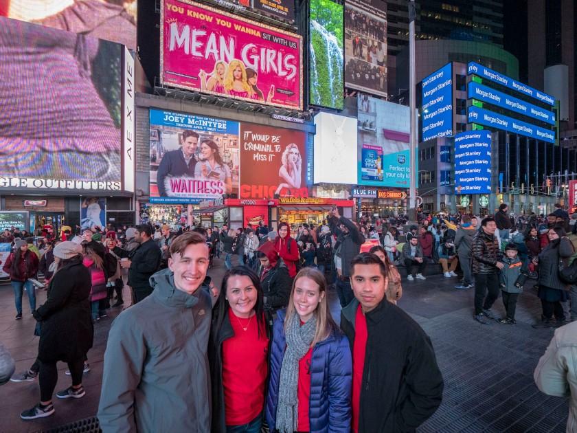SHSU, LEAP Center, LEAP Ambassadors, New York City, Times Square