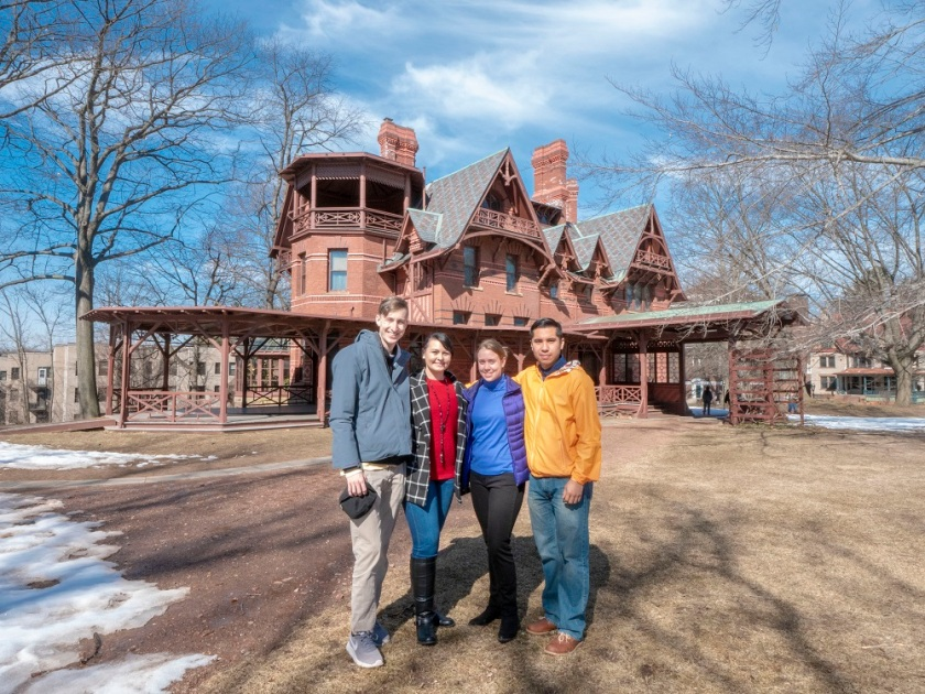 SHSU, LEAP Center, LEAP Ambassadors, New England Tour, Hartford CT, Mark Twain House