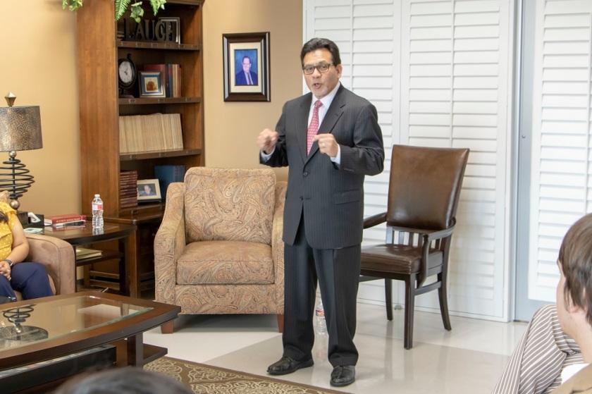 SHSU, LEAP Center, LEAP Ambassadors, Alberto Gonzales