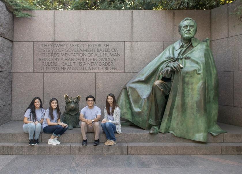 SHSU, LEAP Center, LEAP Ambassadors, Washington DC, FDR Memorial
