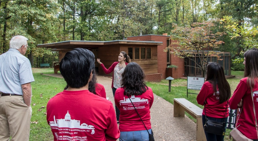 SHSU, LEAP Center, LEAP Ambassadors, Washington DC, Frank Lloyd Wright, Pope-Leighey House