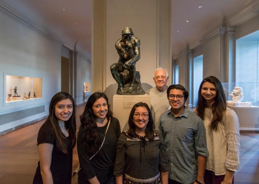 SHSU, LEAP Center, LEAP Ambassadors, Washington DC, National Gallery of Art, Rodin, The Thinker