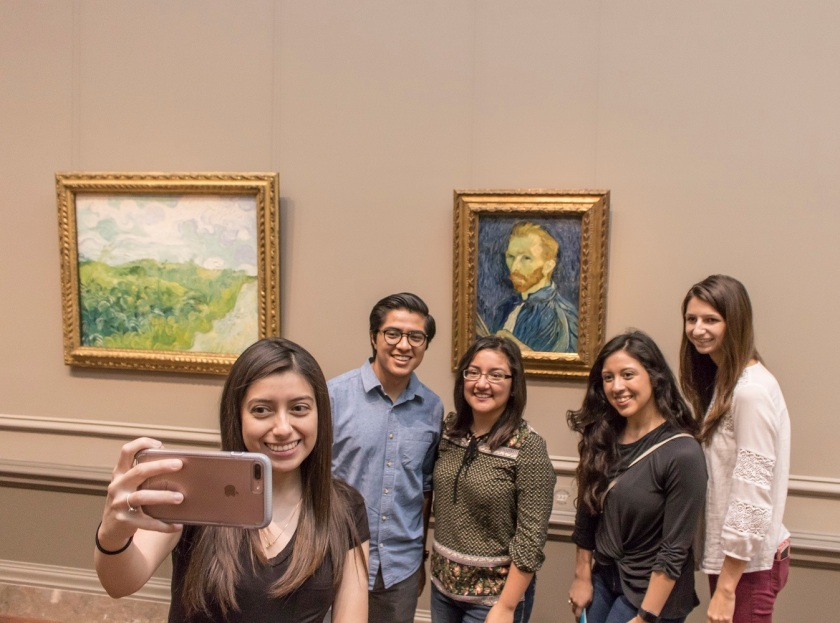 SHSU, LEAP Center, LEAP Ambassadors, Washington DC, National Gallery of Art, Van Gogh, Self Portrait