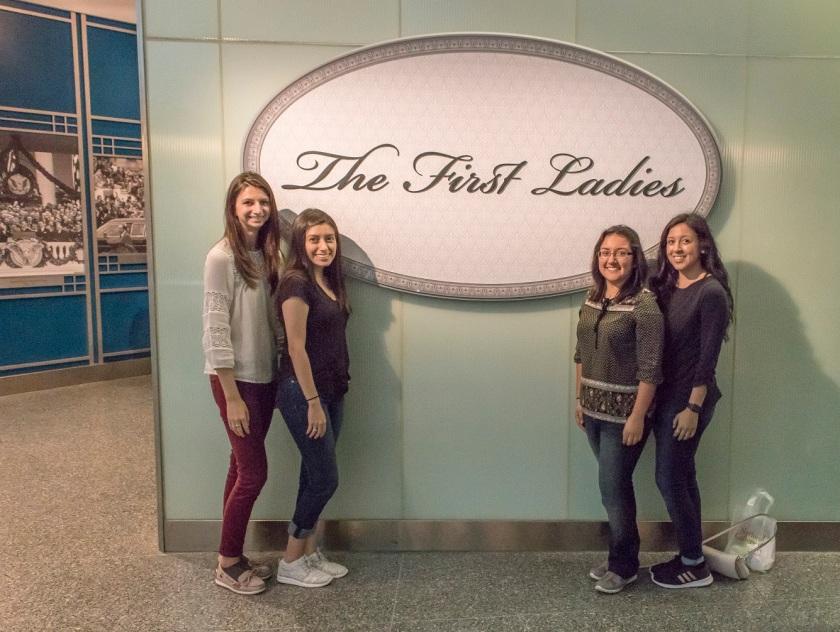 SHSU, LEAP Center, LEAP Ambassadors, National Museum of History, Washington DC, First Ladies