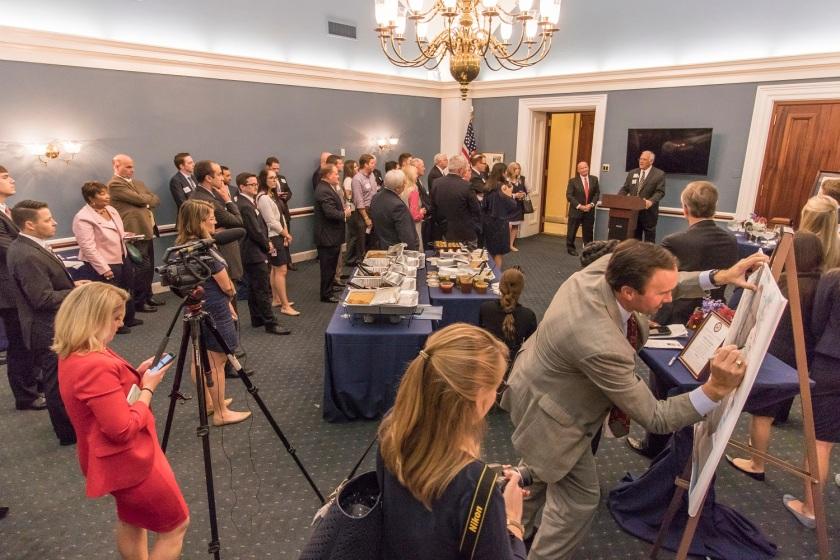 SHSU, LEAP Center, LEAP Ambassadors, Washington DC, Capitol, Sam Houston Bust, Ways and Means, Congressman Kevin Brady