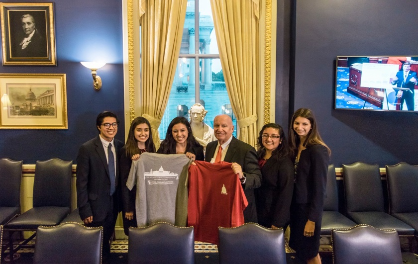 SHSU, LEAP Center, LEAP Ambassadors, Washington DC, Capitol, Sam Houston Bust, Ways and Means, Congressman Kevin Brady. Mac Woodward