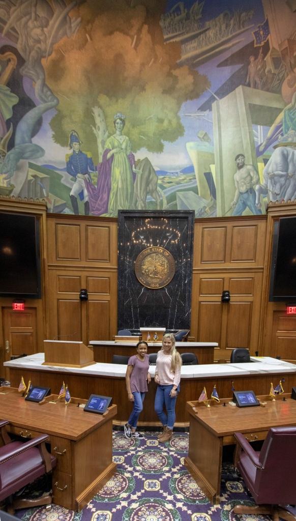 SHSU, LEAP Center, LEAP Ambassadors, Indianapolis, Indiana State Capitol, House of Representatives, Ilexus Williams, Maggie Denena
